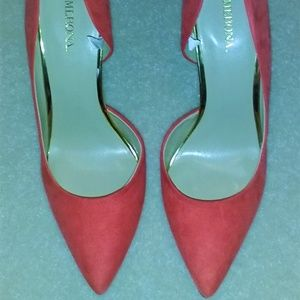 Merona Orange Faux Suede Pumps Women's US Size 8